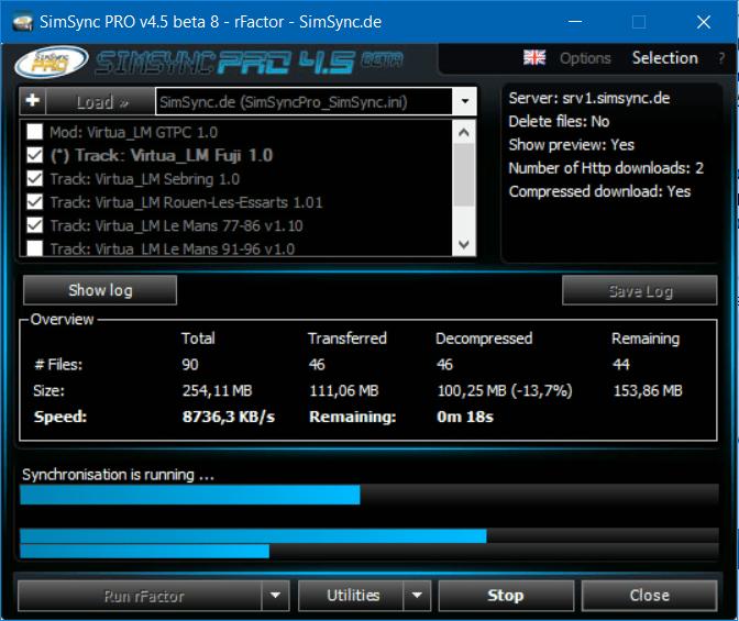 SimSync PRO 4.5 beta 8